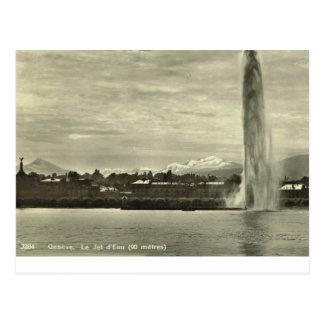 Geneve, Le Jet d'eau, c.1910 Postcard