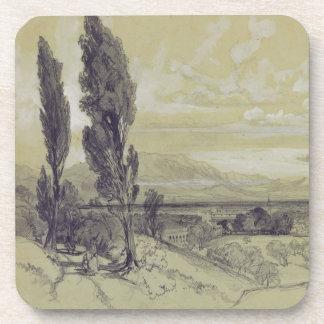 Genezzano, 17 May 1838 (graphite on paper) Drink Coaster