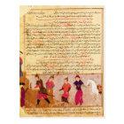 Genghis Khan and his sons by Rashid al-Din Postcard