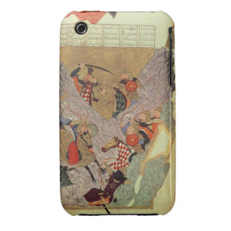 Genghis Khan (c.1162-1227) fighting the Chinese in iPhone 3 Case