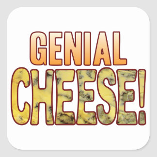 Genial Blue Cheese Square Sticker
