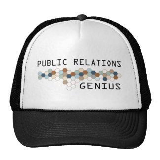 Génie de relations publiques casquette
