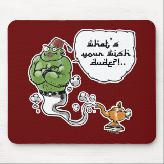 genie of_the lamp with arabic text mouse pad