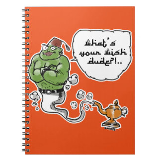 genie of_the lamp with arabic text spiral notebooks