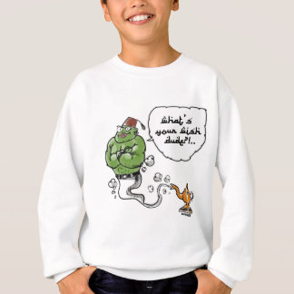 genie of_the lamp with arabic text sweatshirt