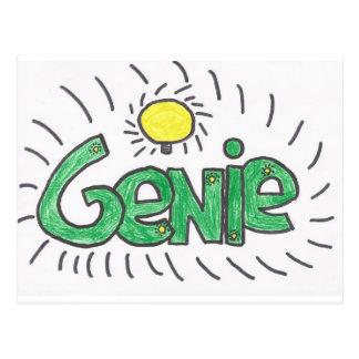 Genie produckt postcard