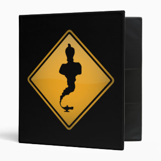 Genie Warning Sign Vinyl Binders