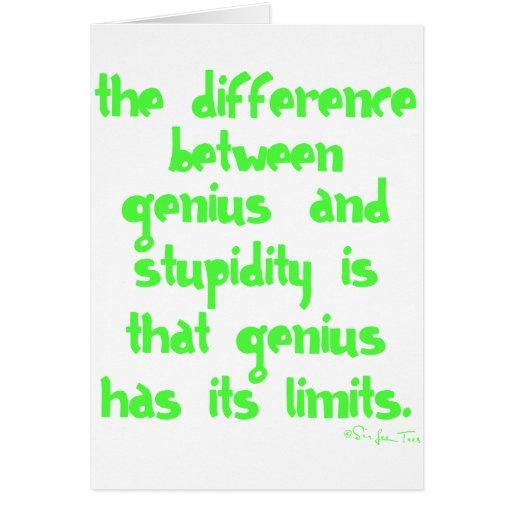 Genius and Stupidity Card