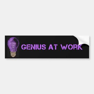 Genius at Work Bumper Sticker