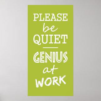 Genius at Work custom color poster