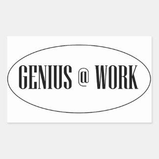 Genius At Work Logo Sticker