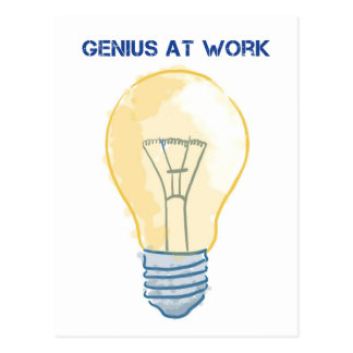 Genius At Work Postcard