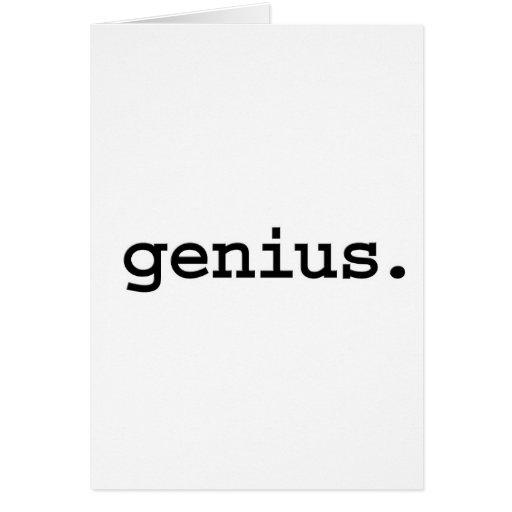 genius. cards