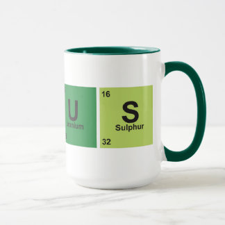 Genius Cup. Periodic table of elements. Mug