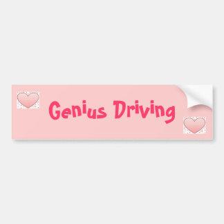 Genius Driving Bumper Sticker
