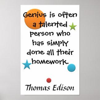 Genius = Homework Posters
