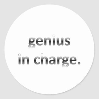 Genius in Charge Classic Round Sticker