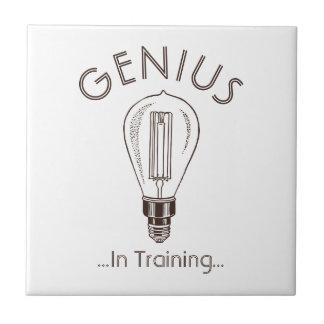 Genius In Training Antique Light Bulb Tile