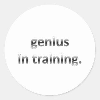 Genius in Training Round Sticker