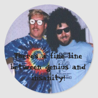 Genius Insanity Sticker (Small)