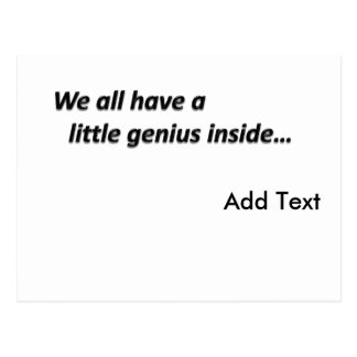 Genius Inside Create Your Own Postcard