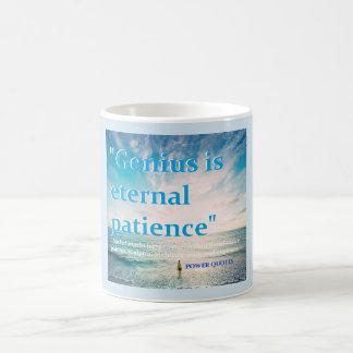 """""""Genius is eternal patience"""" Coffee Mug"""