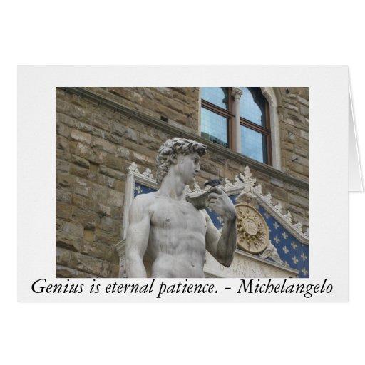 Genius is eternal patience. - Michelangelo quote Greeting Card