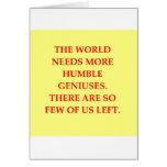 genius joke greeting card