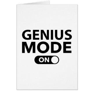 Genius Mode On Greeting Card