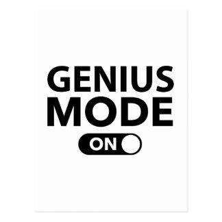 Genius Mode On Postcard