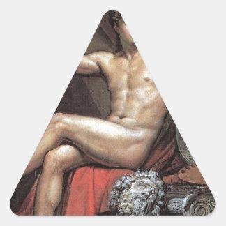 Genius of Art by Karl Bryullov Triangle Sticker