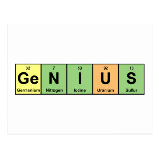 Genius - Periodic Table of Elements Products Postcard