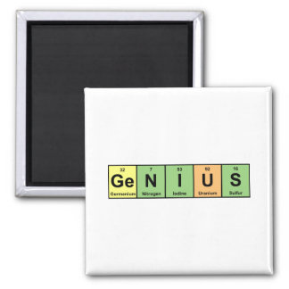 Genius - Periodic Table of Elements Products Square Magnet