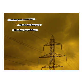 Genius poets borrow post card