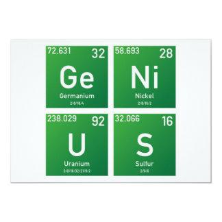 """Genius PSE 5"""" X 7"""" Invitation Card"""