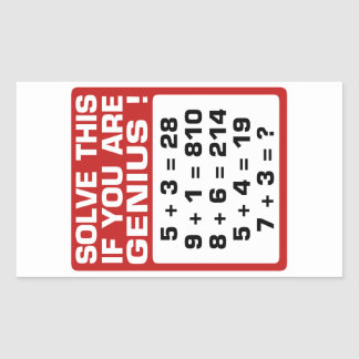 Genius Question Rectangular Stickers