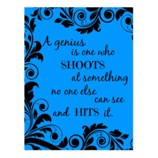 Genius Quote Inspiration Motivation Post Card