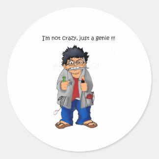 Genius Round Sticker