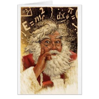 Genius Santa Greeting Card