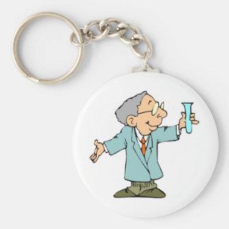 Genius Scientist Experiment Success Keychain