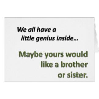 Genius Sibling Greeting Card