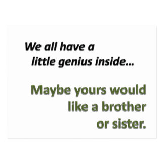 Genius Sibling Postcards