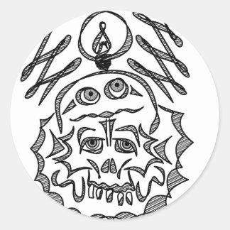 genius Skull Idea Classic Round Sticker