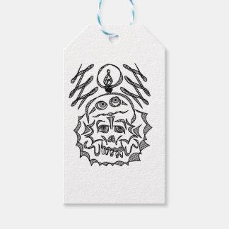 genius Skull Idea Gift Tags
