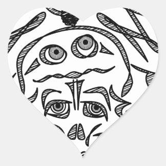 genius Skull Idea Heart Sticker