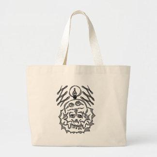 genius Skull Idea Large Tote Bag