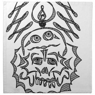 genius Skull Idea Napkin
