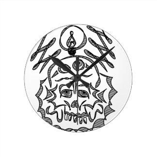 genius Skull Idea Round Clock