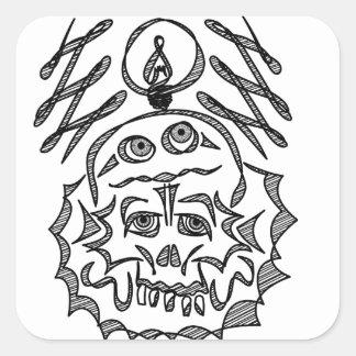 genius Skull Idea Square Sticker