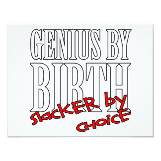 Genius Slacker Personalized Invitation